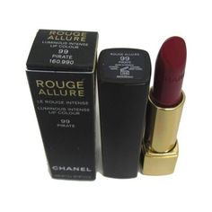 Chanel Rouge Allure Lipstick Luminous Intense Lip Colour 99 Pirate... ($31) ❤ liked on Polyvore featuring beauty products, makeup, lip makeup, lipstick, cosmetics, fillers, beauty, chanel and chanel lipstick