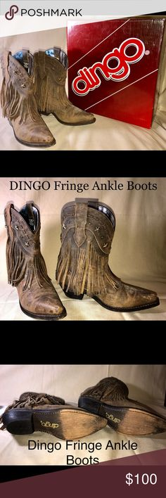 DINGO High Low Fringed ankle boots NIB Darling DINGO high low fringed boots. I ❤️ these boots but never got a chance to wear them except for out of the store!!! Lol!!!! DINGO Shoes Heeled Boots