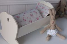 Maileg Cradle & Micro Bunny Gift Set found at Bluebell's Burrow