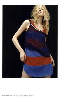 DROMe leather tank top featured in Tush Magazine