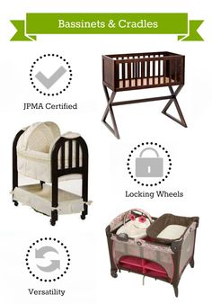 What to look for in a Bassinet or Cradle plus more nursery furniture tips.