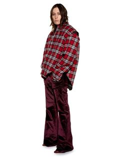 Vetements Exaggerated-shoulder checked flannel shirt
