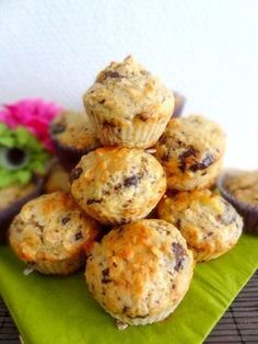 muffins flocons d'avoine, banane et pépites de choc