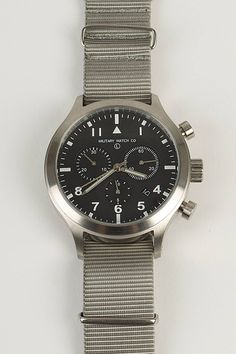 MWC MIL-TEC III Stainless Steel Military Pilots Chronograph (MIL-TEC111SS)