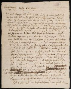 Ms Farmer 271/5 Letter of W.A. Mozart to His Wife, Konstanze, 1791, Page 1