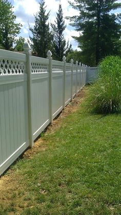 Vinyl Fence...installation begins the week of the 15th July cant wait to replace our old broken wooden fence!!