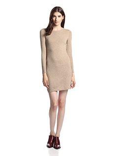 Cashmere Addiction Women's Cashmere Sweater Dress (New Camel)