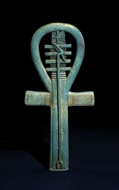 Ancient Egyptian faience amulet combining an ankh, djed and was sceptre. (British Museum) dynasty to Late Period, about BCE. Egyptian Mythology, Ancient Egyptian Art, Ancient Aliens, Ancient History, European History, Ancient Greece, American History, Egyptian Goddess, Art Ancien