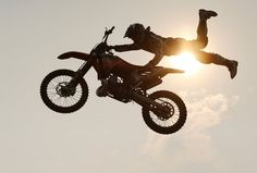 A rider performs during the Red Bull X-fighters Jams show in Krasnoyarsk