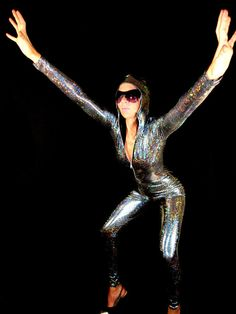 20 Colors Made to Order Laser Holographic Spandex by AliciaZenobia, $125.00 / Great for party in CA, FL, NY.
