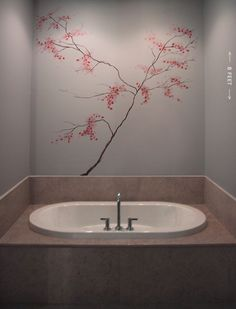 Buying Painting Stencil For Wall Mural Wall Art, Stencil Painting, Painting Walls, Stenciling, Cherry Blossom Pictures, Home And Garden Store, Zen, Murals Street Art, Beautiful Interiors