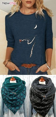 Mode Outfits, Fashion Outfits, Womens Fashion, Scarf Top, Winter Mode, Scarf Styles, Womens Scarves, Winter Fashion, Sweaters For Women