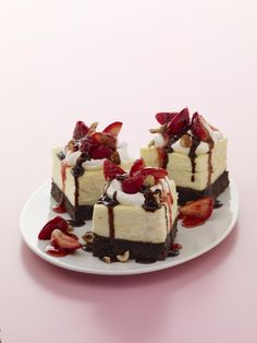 Cheese Cake  Brownie Bars from familycircle.com #desserts