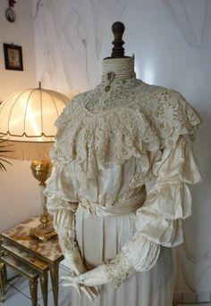 1906 Wedding Dress Bridal Gown antique dress antique Gown