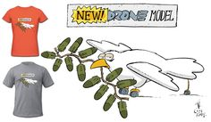Drones…peacekeepers of the century? Today's cartoon by CeciGian. Drone Model, Today Cartoon, Political Cartoons, 21st Century, Shirt Designs, Politics, Comics, Drones, Comic Book