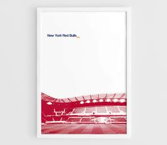 New York Red Bulls Red Bull Arena MLS Football Poster  A3