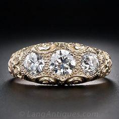 Victorian Three-Stone Diamond Ring - 10-1-4778 - Lang Antiques