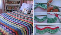 Another beautiful design and great tutorial for them who's hobby is crocheting and have some free time for their hobby to enjoy. Learn To Crochet, Crochet For Kids, Easy Crochet, Free Crochet, Crochet Basket Pattern, Crochet Patterns, Crochet Afghans, Crochet Blankets, Baby Blanket Tutorial