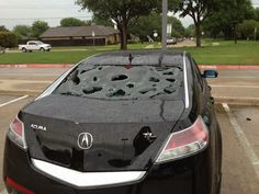 From the tornadoes in Dallas yesterday.