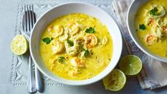 Simple thai noodle soup. Chuck in extra chilli and lime leaves and juice for a gorgeous zing.