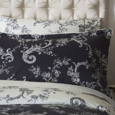 Dorma Emilio Black Collection Oxford Pillowcase