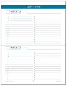 Daily Planner Printables Personal Planner  Planners And Journal
