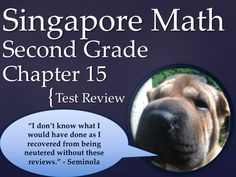 Math in Focus  Singapore 2nd Grade Chapter 15 Test Review (8 pages). This is a test review for the Singapore math program. It is for the second grade's Chapter 15.   The problems are very similar to the ones on the test, just the numbers and wording have changed. For each problem on the test, there are two or three practice problems. There are 8 pages.   It can also be used as an assessment. Ryan Nygren