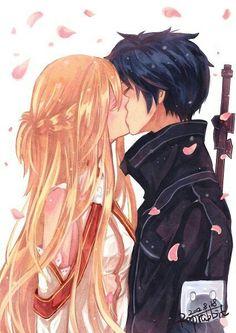 pinterest || hollywallace14 Kirito Asuna, Anime Love Couple, Manga Couple, Light Novel, Sword Art Online Kirito, Madoka Mágica, Animes Manga, Anime Ships, Online Art