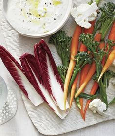 Buttermilk tones down the salty Feta while adding creaminess and tangy flavor. Get the recipe for Creamy Feta and Cumin Dip With Winter Crudites.