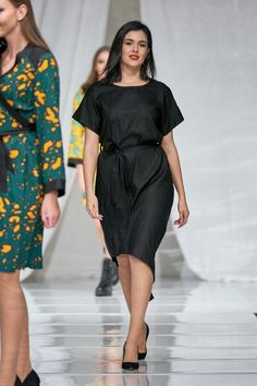 Vellamo Dress - Black :: Vuurran.fi Seventh Wave, Black Fabric, Woven Fabric, Dress Black, Feminine, Shirt Dress, Elegant, Beautiful, Collection