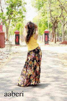 Floral WOMEN'S MAXI SKIRT Floor length Tutu Skirt Tulle by aaberi