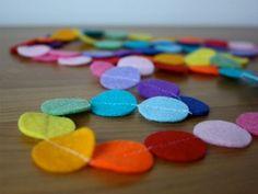 Coloured Felt Garlands | Charmaine of Little Nest Box
