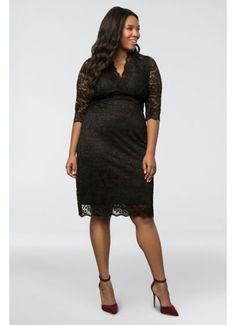 0bedd4c93bf Scalloped Boudoir Lace Plus Size Cocktail Dress 12060902 Plus Size Cocktail  Dresses