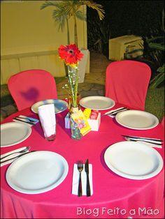 garrafinhas decoradas recicladas - centro de mesa