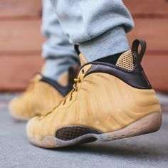 "Don't ditch your Timbs just yet, but a new ""Wheat"" Nike Foamposite has been spotted."