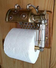 (97) Steampunk Tendencies - toilet roll holder