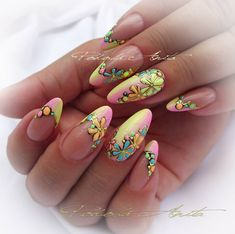 Art Nails – My hair and beauty Spring Nails, Summer Nails, Nail Art Fruit, Romantic Nails, Manicure, Gel Nagel Design, Almond Acrylic Nails, Rainbow Nails, Hot Nails
