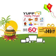 #YuppTV #Pongal Offer for #Australia customers. Save upto 60% and grab Yupp Malayalam Silver package at just $149.99/year. #YuppTVAUS Get it @ http://www.yupptv.com/allpackages.aspx