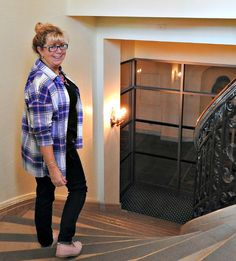 Old Navy Plaid and Haggar Dream Jeans necklace at the Chateau Laurier