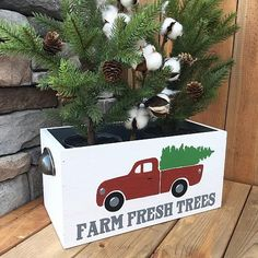 Farm Fresh Trees Holiday Box -- Create a unique stand for your holiday tree.  #decoartprojects
