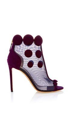 Nicholas #Kirkwood Aubergine Quantum Peep Toe Boot $1,295 #Shoes #Heels
