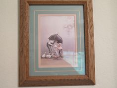 "JJ Steve Polomchak Framed 10.5 x 12.5 Lithograph ""Thanks Grandpa"""