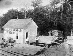 corning arkansas | Black & Arnold Lumber Company probably in1900, Corning, AR. From left ...