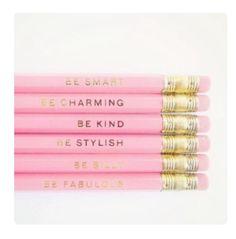 Pencils pink style gold [em]