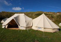 6 metre Standard Emperor Bell Tent joined to a tent Camping Glamping, Outdoor Camping, Outdoor Gear, Outdoor Stuff, Caravan Living, Tent Living, 5m Bell Tent, Tent Accessories, Tent Design