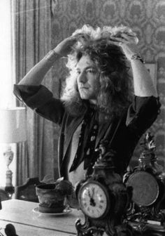 Robert Plant and his perfect hair