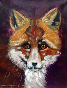 What does the FOX say? By Cinnamon Cooney The Art Sherpa as a Fully guided art lesson for Hart Party on youtube. Free online home painting party https://www.youtube.com/user/HoneyBmama #artlesson #theartsherpa #hartparty #easyart #paintingparty #art #diy