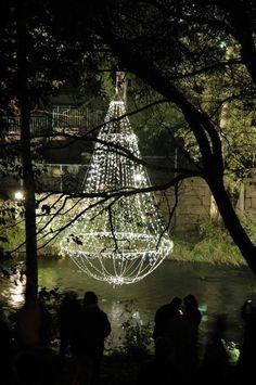 christmas lights chandelier