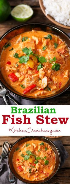 Brazilian Fish Stew - light, fragrant and full of flavour!