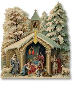 Fleur-de-lis Nativity - PaperModelKiosk.com